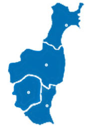 クラウドサポート郡山は、福島県、仙台市、宇都宮市、水戸市に対応