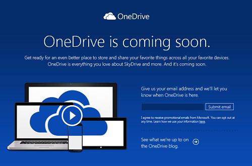 マイクロソフト社のオンラインストレージサービスが名称変更へ